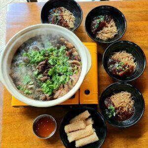 "Ah Lau ""Sibeh Jiak Beh Liao All Parts"" Beef Soup & Egg Noodles"
