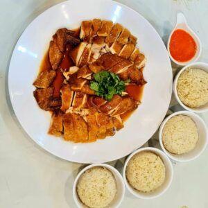 "Ah Lau ""Sibeh Gaolat 够力 Sibeh 滑"" Hong Kong Si Yao Gai 菜园鸡饭 (Soy Sauce Kampung Chicken Rice)"